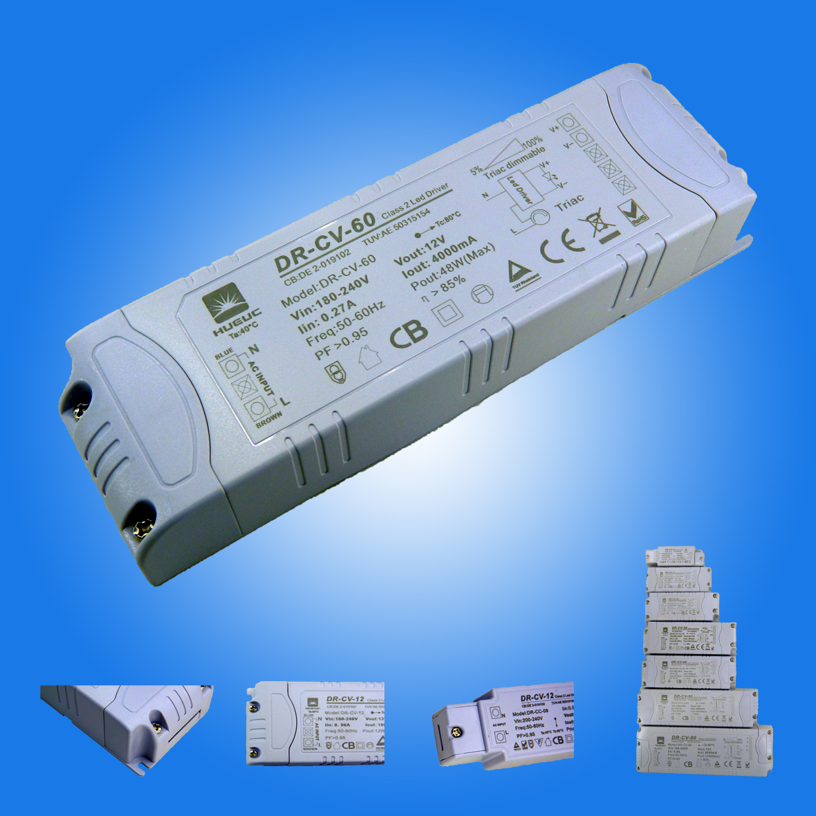 TUV Authentication Dimmable led driver