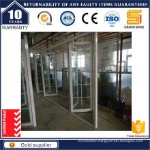 Aluminium Sliding Folding Door with Aluminum Grille