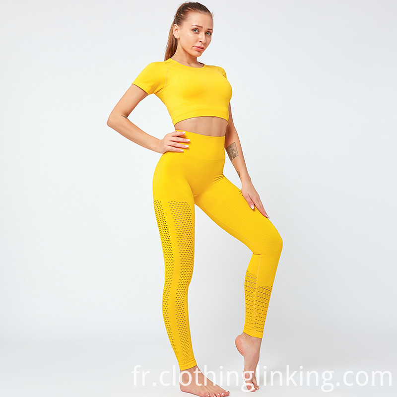 yellow yoga suits
