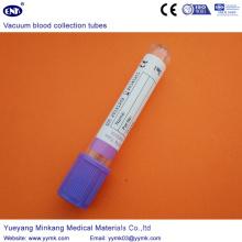 Tubos de la colección de la sangre del vacío Tubo de EDTA (ENK-CXG-018)