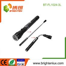 Ningbo Fabricant Handheld Aluminium Matériau 3 led Lampe torche télescopique à base magnétique