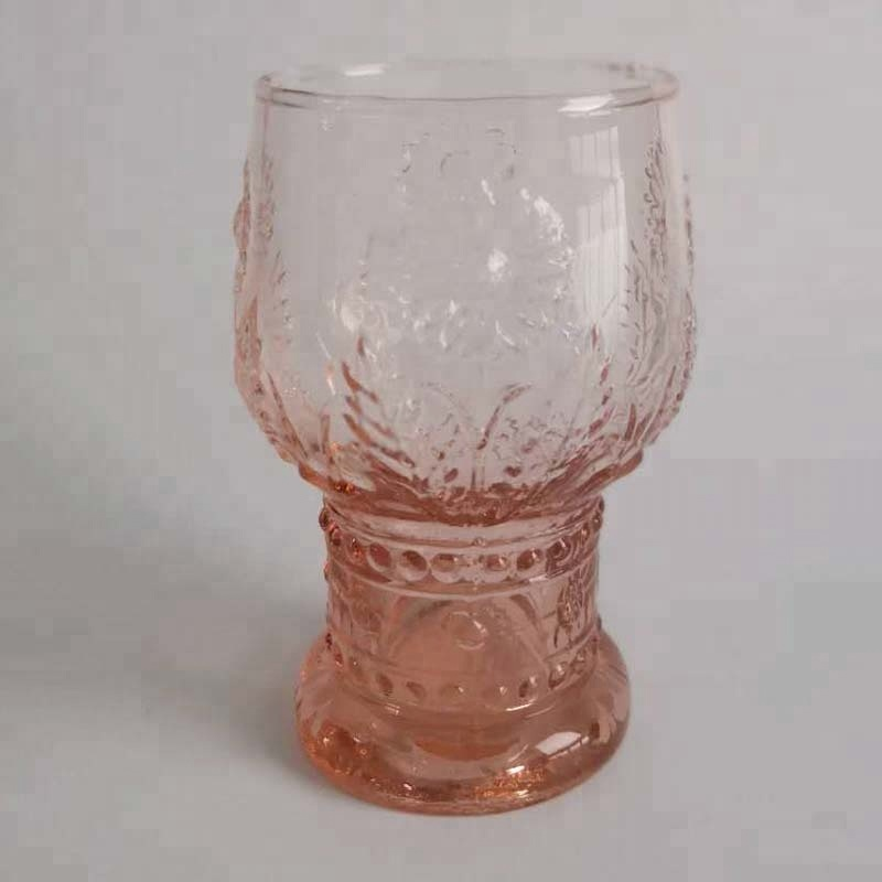 Br 8288orange Color Sunflower Wholesale Glass Tumblers