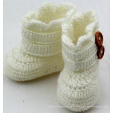 Bébé Enfant Handmade Crochet Knit Booties Bottes Chaussures