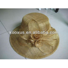 Формальная шляпа sinamay с пером цветок