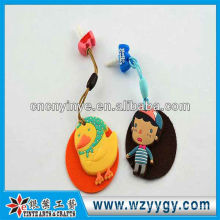 OEM promotional cute pvc cleaner dust plug for cell phone