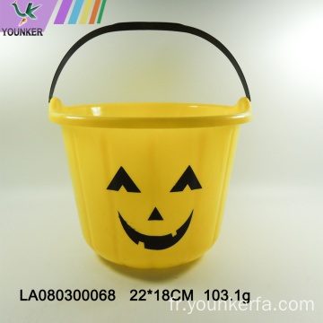 Wholesale Halloween baril de citrouille en plastique