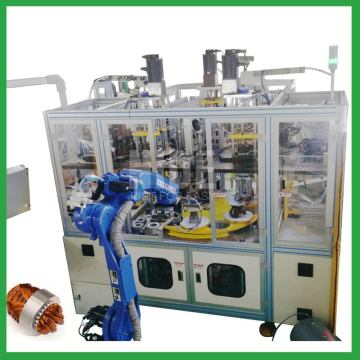 Automatic motor stator winding insertion machine