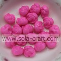 Hanging Hole Small Rose Acrylic Solid Beads For Decoration