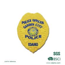 Neu gelbe Farbe Polizei Stickerei Patch