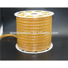 Lumière de bande de LED 2835 double rangée 60led 120led 180led Flexible jaune imperméable à l'eau élevée PCB AC220V flex a mené la bande de lumière