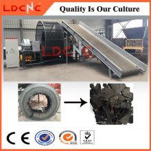 La basura utilizó la fábrica de goma de la máquina de la trituradora del cortador del neumático del camión
