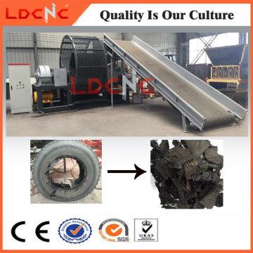 Preço da máquina de corte da retalhadora do pneu de borracha da sucata