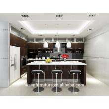Ventana de madera natural del gabinete de cocina de la chapa de madera del diseño italiano