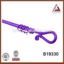 flexible curtain rod set/China cheap curtain finial/simple curtain rod finial