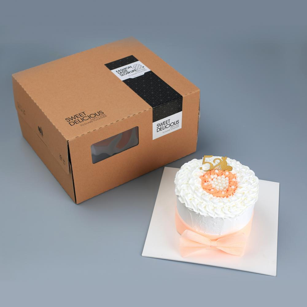 Kraft paper cake box packaging