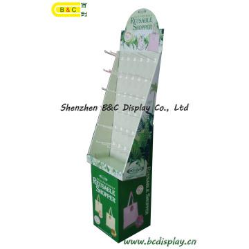 Shopping Paper Hooks Display, suporte de ganchos de papelão, caixa de presente, depósito de papel (B & C-B001)