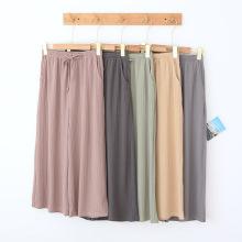 pantalon tricoté pour femme pantalon d'été mince Capris