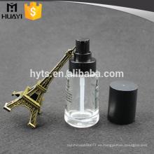 Botella de base líquida de vidrio de 30 ml con bomba para crema facial