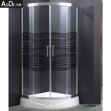 Aokeliya Cheap and Simple Tempered Glass Shower Room with Sliding Doors Kit