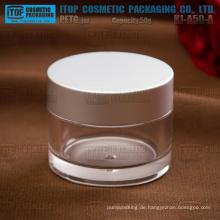 KJ-A50-A 50g Metall Hochglanz schön und High-End-hohe klar dick und hart 50g Creme Glas