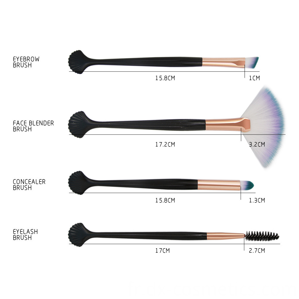 4 Pieces Makeup Brushes Sets 8