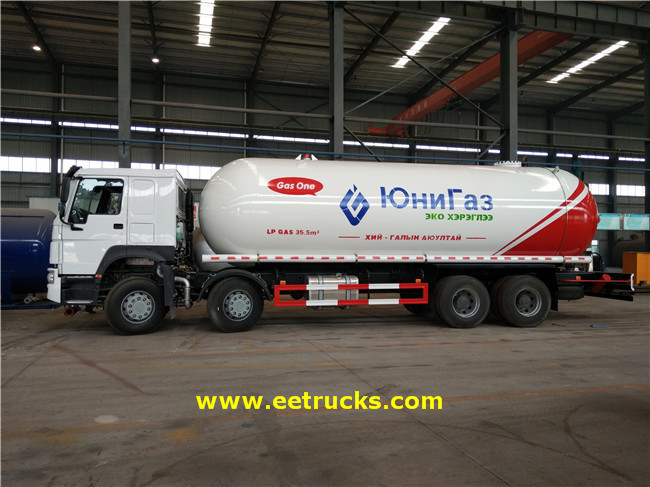 35.5 CBM LPG Transport Trucks