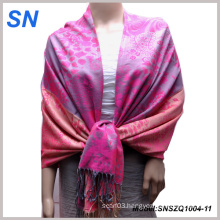 Two Color Tone Women Pashmina Evening Stole Shawl Scarf