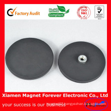 Strong Permanent Sintered NdFeB Multi-Poles Rubber Coating Pot Magnet