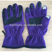 New style high quality purple fleece gloves for couples