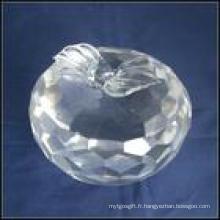 Presse-papiers Crystal Apple (JD-BJ-007)