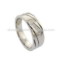 Wholesale Men's Stainless Steel Wedding Ring Jewelry with Crystal Rings Accessories