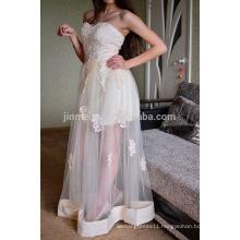 Sweetheart A-line Tulle Long Evening Dresses 2016 Hot Sale Appliqued Prom Dresses Vestido De Festa Longo Vestidos De Noche Largo