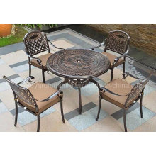 Outdoor Garden Furniture Arm Chair with Cushion Cast Aluminum Chair (SZ216; SD515)