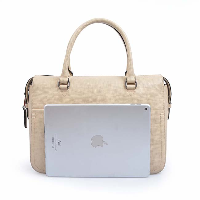 genuine leather new fashion design women business handle bag