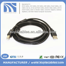 Neue 5M USB 2.0 Druckerkabel Typ A Stecker auf Typ B Stecker M / M A / B Kabel Blau Qualität