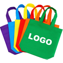 wholesale custom different colors bulk printed recyclable tote shopping bag non woven grocery shopping bags