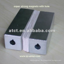 Super Cube Neodymmagneten mit Senker, Quadermagnet, superstarken Magneten