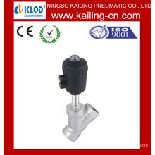 Válvula de asiento angular / Válvula de asiento de ángulo de pistón de 2 vías para agua, aire, gas / hilo y brida