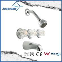 Bathroom in-Wall Brass Chromed Shower Faucet (AF5577-7)