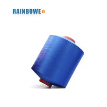 le prix le plus bas coloré 4075 / 48F polyester air recouvert de spandex pour faire des chaussettes