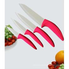 Punho vermelho zircônia faca de cerâmica, facas de cerâmica (c3456)