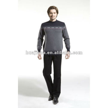 Camisola de malha de cashmere masculina da máquina Stoll