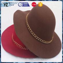Фабрика поставки уникальный дизайн декоративной вязание крючком женщин шляпу Китай оптом
