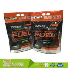 Wholesale Custom Printed Stand Up Packaging Food Grade Protein Powder Zip Lock Bag