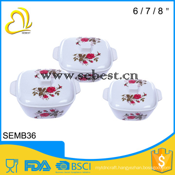 houseware melamine soup bowl with lid