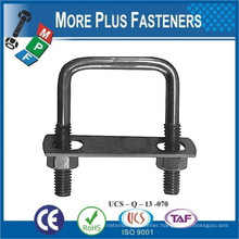 Made in Taiwan Gibraltar Galvanized Stainless Steel Square Bend U Bolt