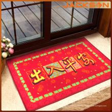 Alfombra roja de la puerta del color del estilo chino