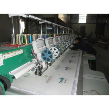 Pailletten-Stickerei-Maschine mit doppelten Pailletten Gerät