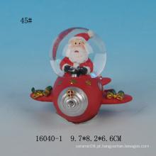 Globo de neve encantador da resina do projeto 45MM de Santa mini