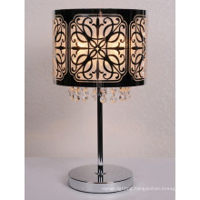 E27 60W Zhongshan Guzhen Professional Design Stainless Steel Crystal Shade Table Lamp